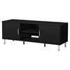 Renta TV Stand - 2 Doors, 2 Shelves, Pure Black