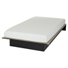 "Libra Twin Platform Bed with 6"" Somea Mattress - Pure Black"