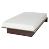 "Libra Twin Platform Bed with 6"" Somea Mattress - Royal Cherry"