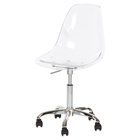 Clear Acrylic Office Chair - Wheels