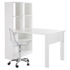 Annexe Work Table and Storage Unit Combo - Clear Office Chair, Pure White