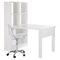 Annexe Work Table and Storage Unit Combo - Clear Office Chair, Pure White - SS-100077