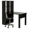 Annexe Work Table and Storage Unit Combo - Clear Office Chair, Pure Black