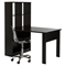 Annexe Work Table and Storage Unit Combo - Clear Office Chair, Pure Black - SS-100078