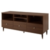 Olly TV Stand - 3 Drawers, Brown Walnut