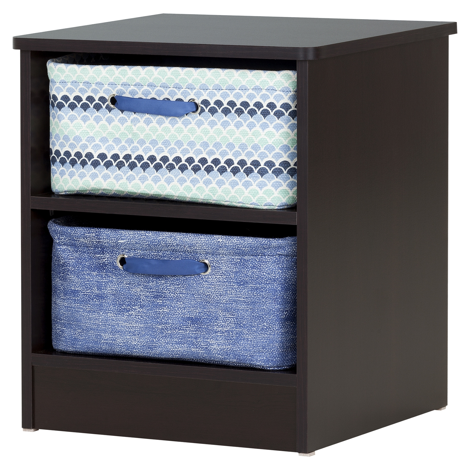 Libra Nightstand - 2 Storage Baskets, Chocolate