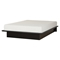 Step One Platform Bed - Mattress, Pure Black - SS-10015-BR