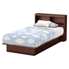 Libra Twin Platform Bed - Bookcase Headboard, Royal Cherry