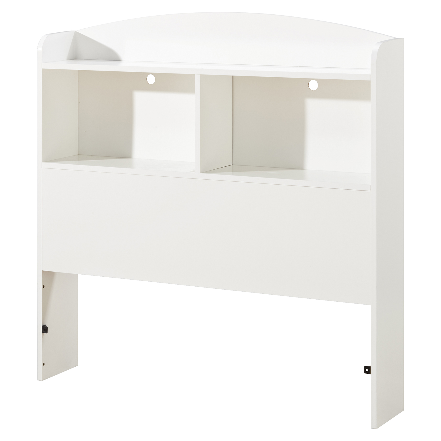 Logik Twin Bookcase Headboard - Pure White