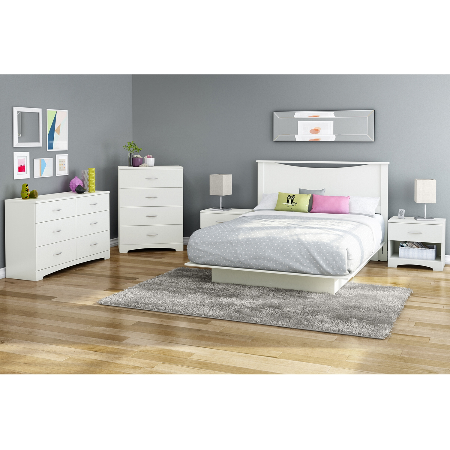 Step One Chest - 4 Drawers, Pure White - SS-10069
