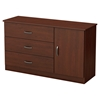 Libra Dresser - Door, 3 Drawers, Royal Cherry