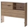 Fynn Twin Headboard - Storage, Rustic Oak