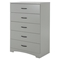 Step One Chest - 5 Drawers, Soft Gray - SS-10106