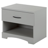 Step One Nightstand - 1 Drawer, Soft Gray