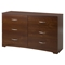 Step One Double Dresser - 6 Drawers, Sumptuous Cherry - SS-10109