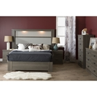 Gloria Queen Platform Bedroom Set - Gray Maple