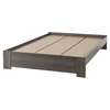 Gloria Queen Platform Bed - Gray Maple