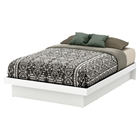 Basic Full Platform Bed - Moldings, Pure White