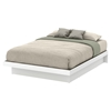Basic Queen Platform Bed - Moldings, Pure White