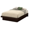 Basic Full Platform Bed - Moldings, Chocolate - SS-10162