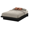 Basic Queen Platform Bed - Moldings, Pure Black