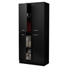 Axess Armoire - 4 Doors, Pure Black