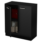 Axess Storage Cabinet - 2 Doors, Pure Black