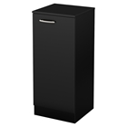 Axess Narrow Storage Cabinet - Pure Black