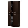Axess Armoire - 4 Doors, Chocolate