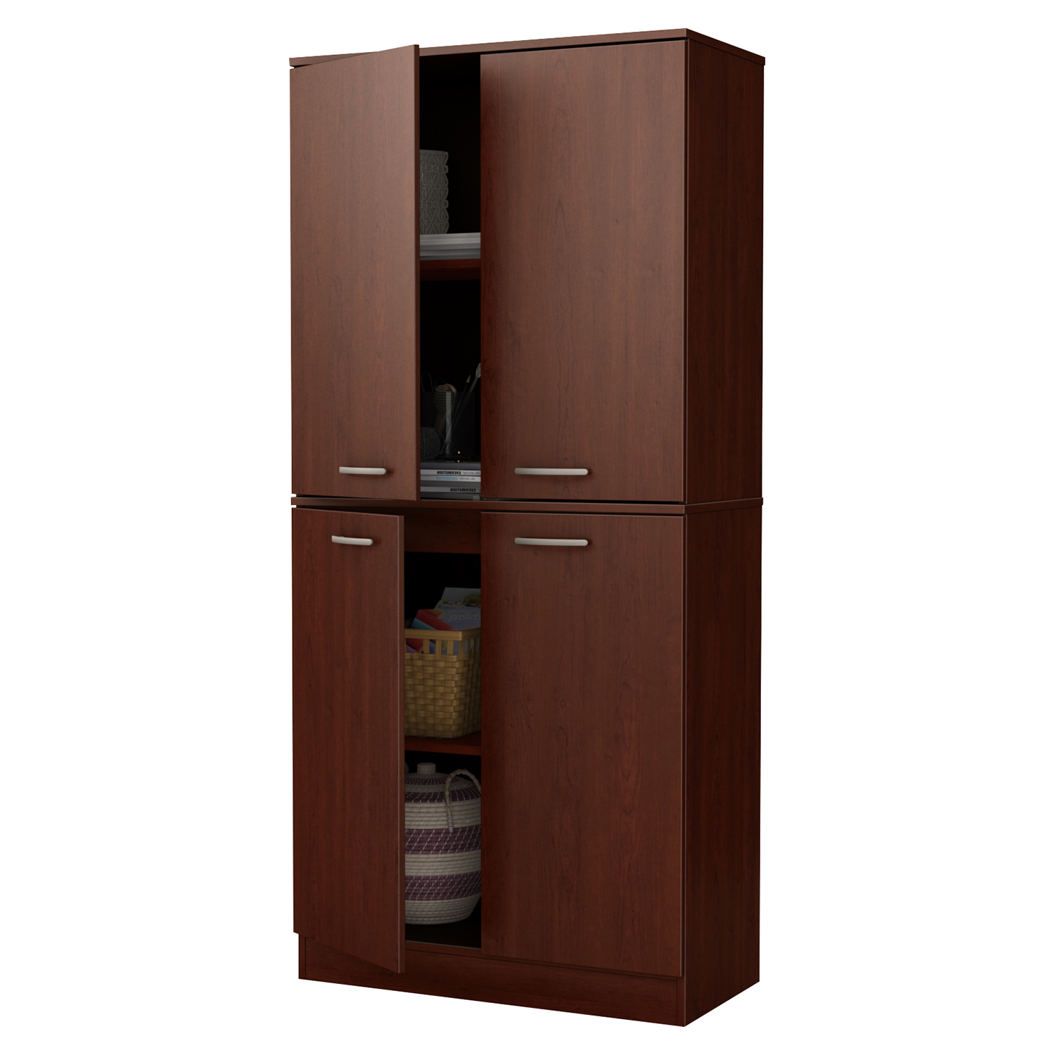 Axess Armoire - 4 Doors, Royal Cherry