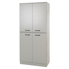 Axess Armoire - 4 Doors, Soft Gray
