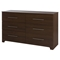 Primo Full/Queen Platform Bedroom Set - Drawer, Brown Walnut - SS-1033-BED-SET