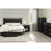 Primo Full/Queen Platform Bedroom Set - Drawer, Pure Black