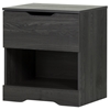 Holland Nightstand - 1 Drawer, Gray Oak