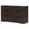 Holland Double Dresser - 6 Drawers, Havana - SS-10400
