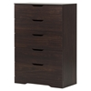 Holland Chest - 5 Drawers, Havana