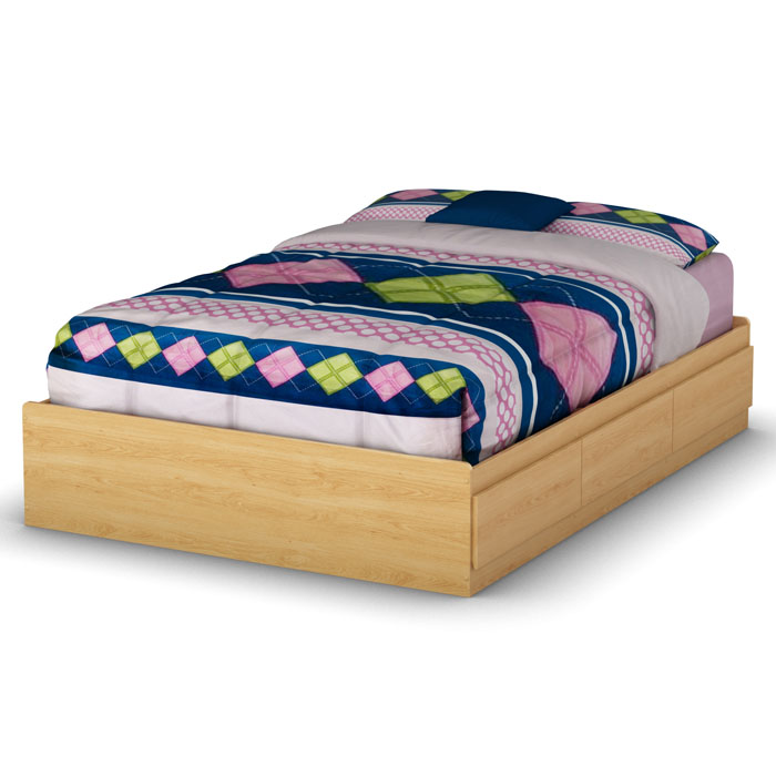 Popular Natural Maple Full Mate's Bed