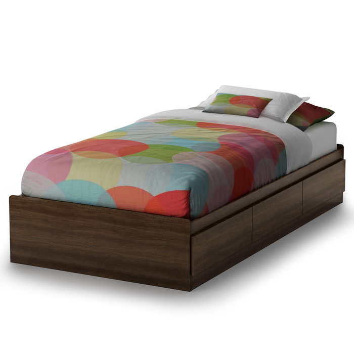 Popular Mocha Twin Mate's Bed - SS-2779212