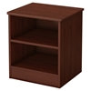 Libra Nightstand - 2 Open Storages, Royal Cherry