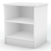 Libra White Nightstand with 2 Open Shelves