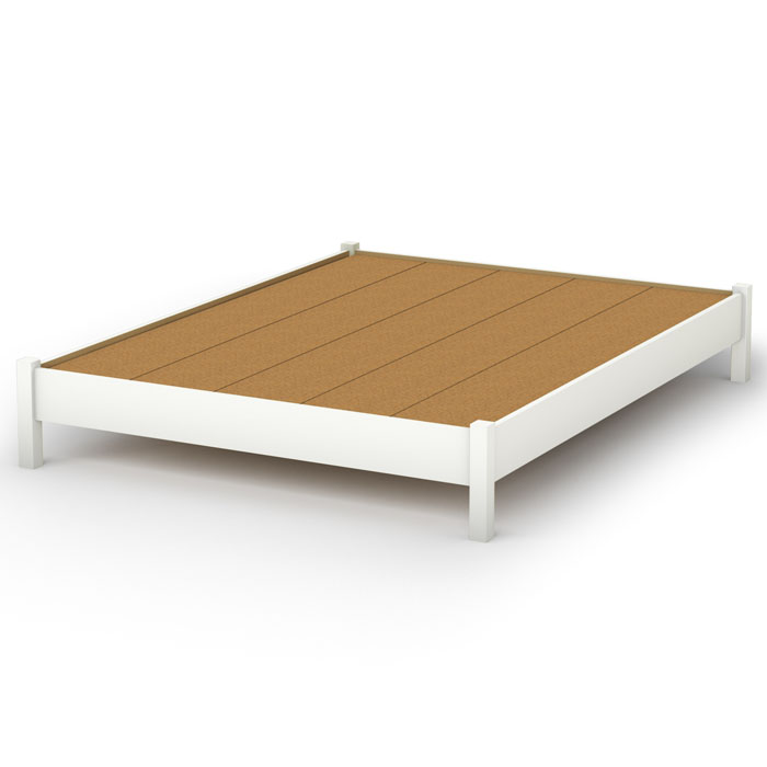 Step One Platform Bed in White - SS-3050