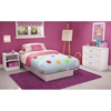 Libra White Bedroom Set with Twin Bed
