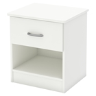 Libra Nightstand - 1 Drawer, Pure White