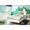 Libra Twin Bookcase Headboard - Pure White - SS-3050098