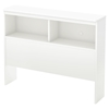 Libra Twin Bookcase Headboard - Pure White