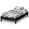 Libra Twin Platform Bed in Black - SS-3070205