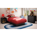 Libra Black Bedroom Set with Twin Bed