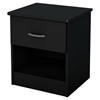 Libra Nightstand - 1 Drawer, Pure Black