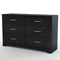 Step One Black Dresser with 6 Drawers - SS-3107010