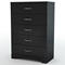 Step One Black Chest with 5 Drawers - SS-3107035